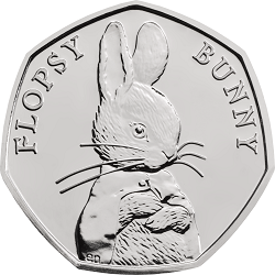 Flopsy Bunny 2018 UK 50p Brilliant Uncirculated Coin rev uku42886 - What's your favourite 50p coin design of the year 2018?