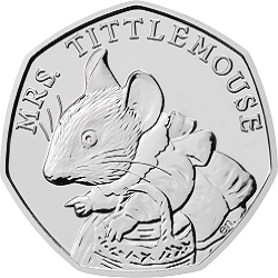 Mrs. Tittlemouse 2018 UK 50p Brilliant Uncirculated Coin rev uku44886 - What's your favourite 50p coin design of the year 2018?