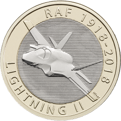 RAF Centenary Lightning II 2018 - What's your favourite £2 coin design of the year 2018?