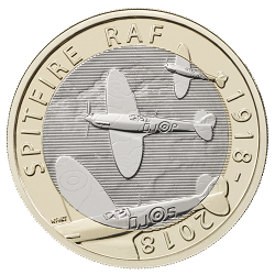 RAF Centenary Spitfire 2018 - What's your favourite £2 coin design of the year 2018?