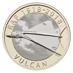 RAF Centenary Vulcan 2018 - What's your favourite £2 coin design of the year 2018?