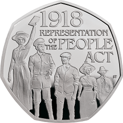 Representation of the People Act 2018 United Kingdom 50p Base Proof Coin rev tone - What's your favourite 50p coin design of the year 2018?