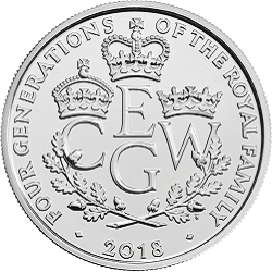 The Four Generations of Royalty - What's your favourite £5 coin design of the year 2018?