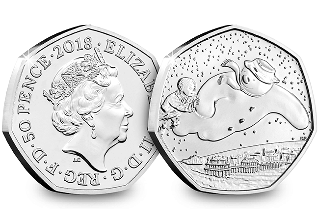 AT 2018 Snowman 50p Coin Brilliant Uncirculated Both Sides 1 - Celebrating World Book Day on Britain's Best Loved Coins