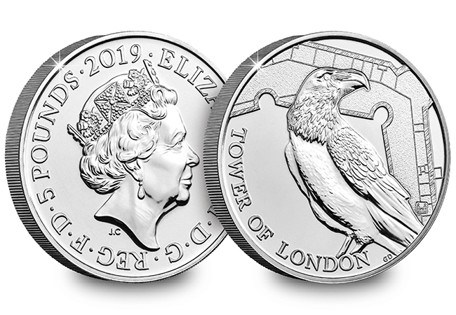 AT 2019 The Tower of London The Legend of the Ravens 2019 UK 5 Pound Brilliant Uncirculated Coin 1 - NEW UK Coin Series celebrates one of Britain's most iconic attractions…