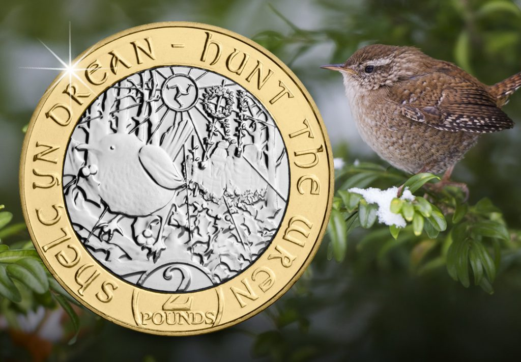 IOM 2019 Hunt the Wren BU 2 Pound Coin social media 1080px 1024x711 - The hunt is on for the Isle of Man Wren £2 and other Manx Christmas coins!