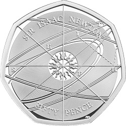 Sir Isaac Newton 2017 UK 50p - January 2019 eBay Tracker Update