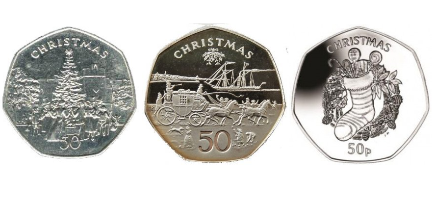 christmas 50ps - The hunt is on for the Isle of Man Wren £2 and other Manx Christmas coins!