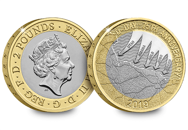 AT 2019 Certified BU D Day 2 Pound Coin Product Images Obverse Reverse - First look: New Royal Mint coin designs for 2019!