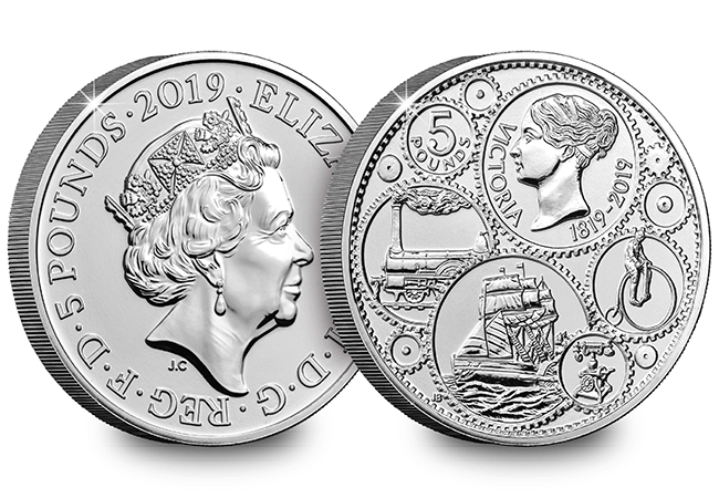 AT 2019 Certified BU Victoria 5 Pound Coin Product Images Obverse Reverse - First look: New Royal Mint coin designs for 2019!