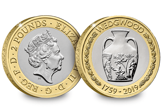AT 2019 Certified BU Wedgewood 2 Pound Coin Product Images Obverse Reverse - First look: New Royal Mint coin designs for 2019!
