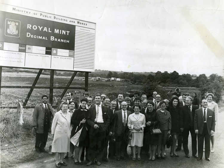 rm opening group resized - 50 years of The Royal Mint at Llantrisant... The move to decimalisation