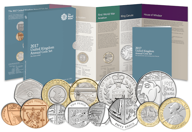 2017 Royal Mint set - The rarest 50p and £2 coins revealed! UPDATED UK mintage figures.