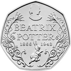 2016 Beatrix Potter 50p Portrait BU Coin reverse uku02856 - Top four 50p coins shortlisted. Vote for your favourite!
