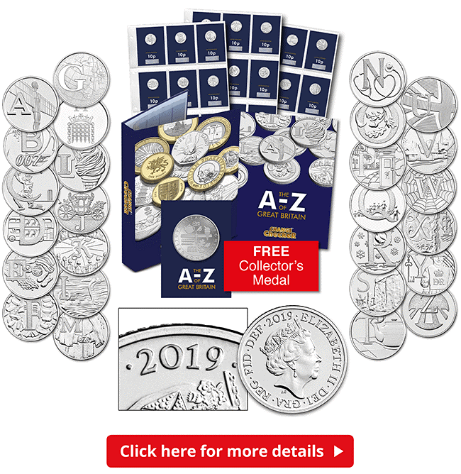 2.1 Million A-Z 10p coins re-issued for 2019