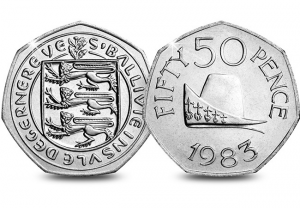 Ducal Cap 50p 300x208 - Your guide to Guernsey's rarest coins in circulation... Mintage figures revealed!