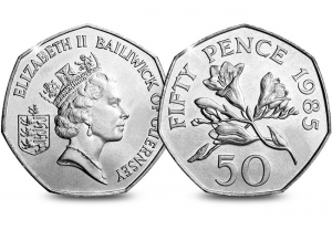 Freesia Flowers 50p 300x208 - Your guide to Guernsey's rarest coins in circulation... Mintage figures revealed!