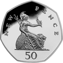 1989 Old Britannia 50p - The 50p that's even rarer than the 2017 Isaac Newton coin...