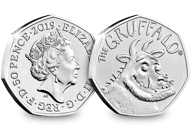 AT 2019 Gruffalo 50p Coin Brilliant Uncirculated Obverse Reverse 1 - Celebrating World Book Day on Britain's Best Loved Coins