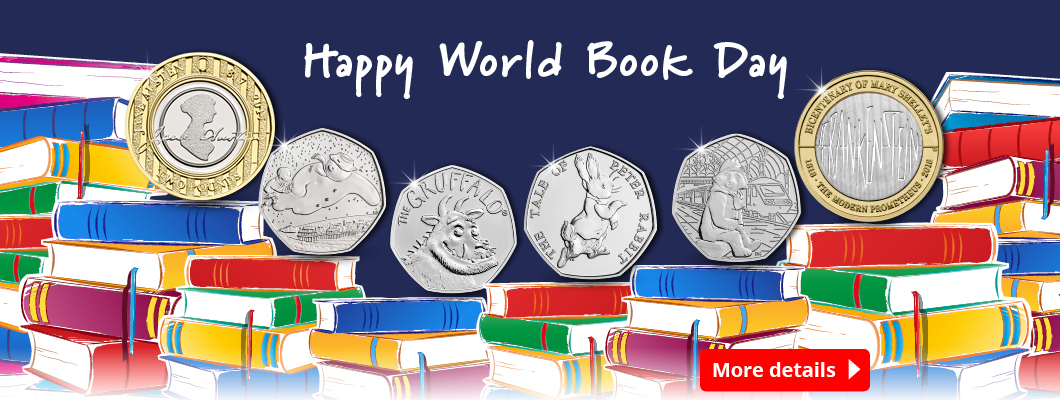 DY World Book day 1060x400 Homepage Banner - Celebrating World Book Day on Britain's Best Loved Coins