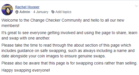 welcome message - You're invited to the Change Checker Community!