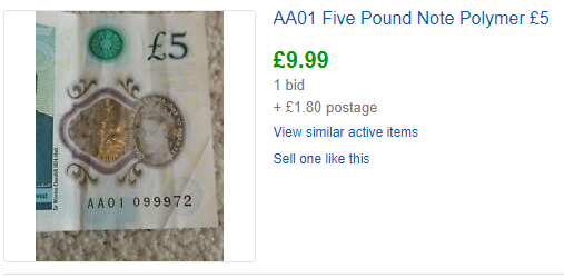 AA01 banknote listing - How much is my polymer banknote really worth?