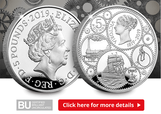 200th Anniversary of the Birth of Queen Victoria 2019 UK £5 Brilliant Uncirculat