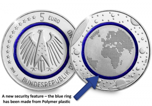 blue planet earth german 5 euro coin arrow 300x208 - Fascinating Finds: a road trip through the pockets of the Eurozone