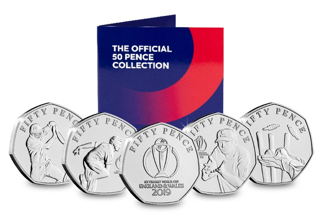 icc cricket 50ps - Isle Of Man hits a six! Limited edition ICC 50p series released...