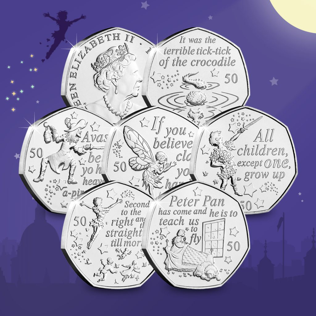 All you need is faith, trust and a little bit of pixie dust... And a Peter Pan 50p!
