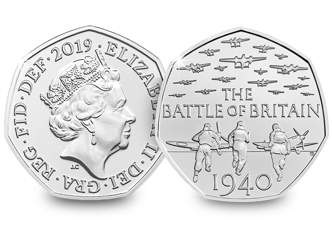 The five 50p coins RE-ISSUED to celebrate British Military History
