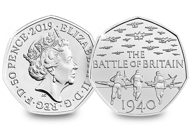 Spot the difference: The Battle of Britain 50p that has caused a stir!