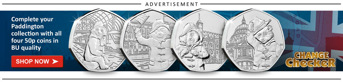 AT Change Checker Blog Ad Banners 2019 2 Paddington 50p Set - A history of UK Remembrance Day coins