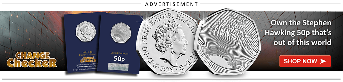 AT Change Checker Blog Ad Banners 2019 Stephen Hawking 50p 1 - Rarest 50ps Revealed! 2018 Mintage Figure Update