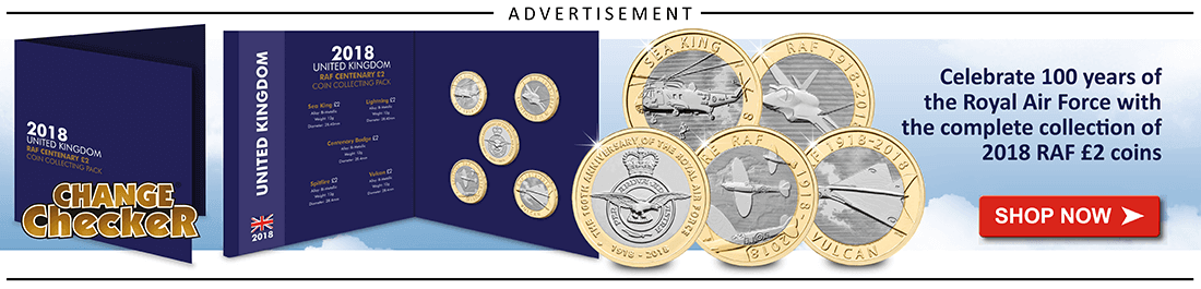 AT Change Checker Blog Ad Banners RAF Set 1 - New Pence Two Pence - how much is the 1983 2p worth?