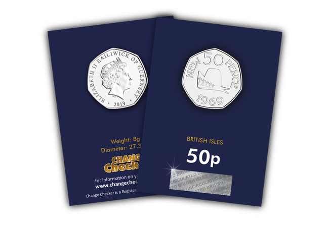 Jersey and Guernsey celebrate 50 years of the 50p!