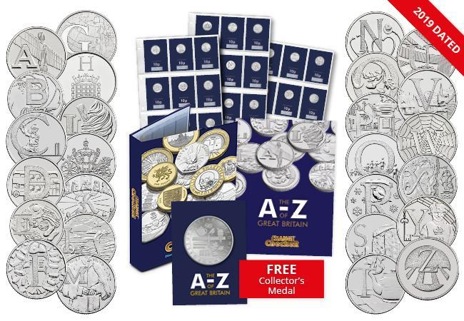How much is an A-Z of Great Britain 10p worth now?